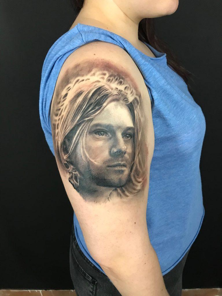 tatuaje kurt cobain