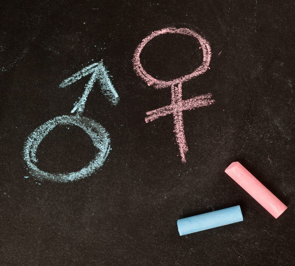 simbolos masculino y femenino